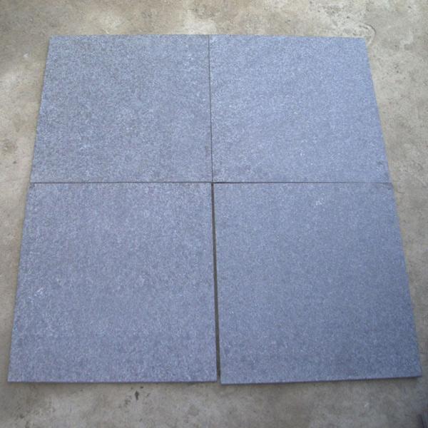 G684 Tile China Granite G684 Pearl Black Flamed Tiles