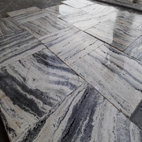 Silver Travertine Veine Cut Tiles