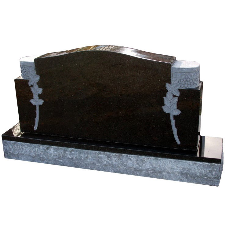 Black Galaxy Granite Headstone