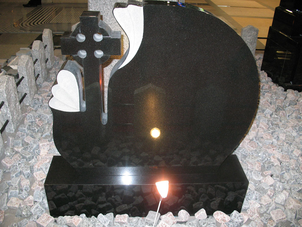 Shanxi Black Granite Cross Headstone