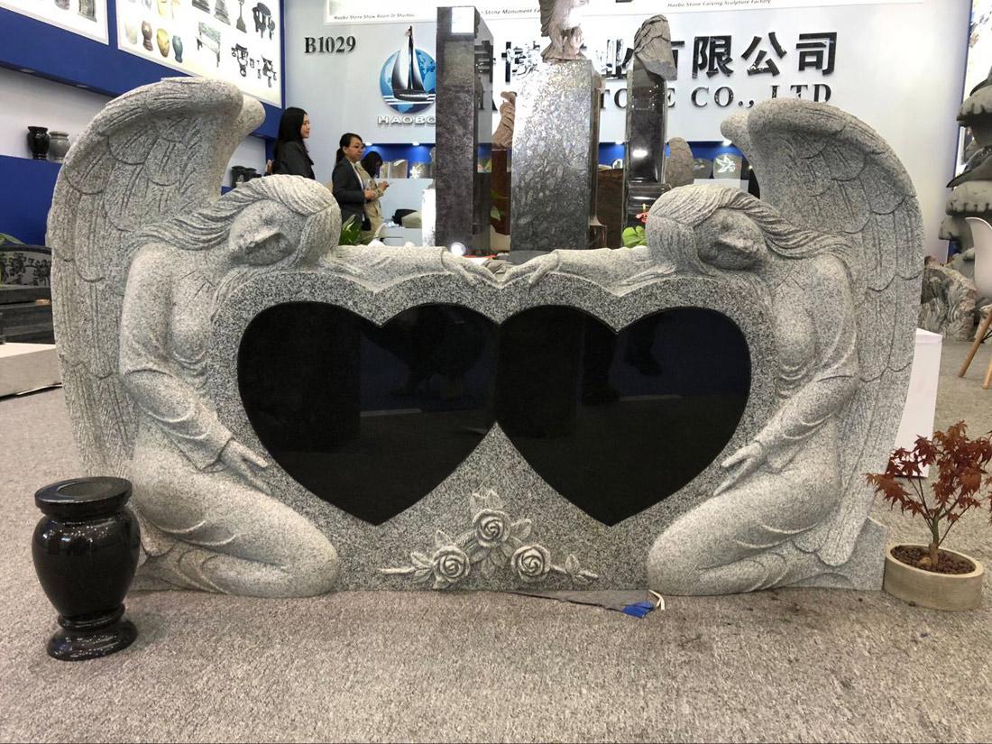 Granite Monument Double Angel Headstones
