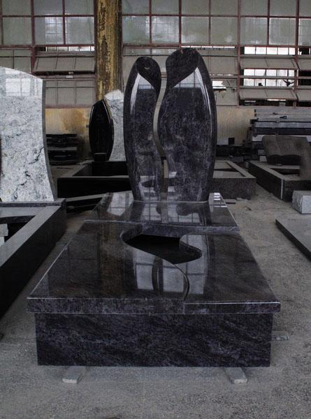 Bahama Blue Polished European Tombstone Monument