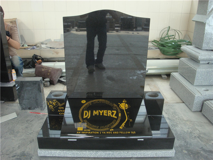 High polished granite monument