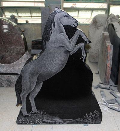 Shanxi Black Horse Shape Upright Monument