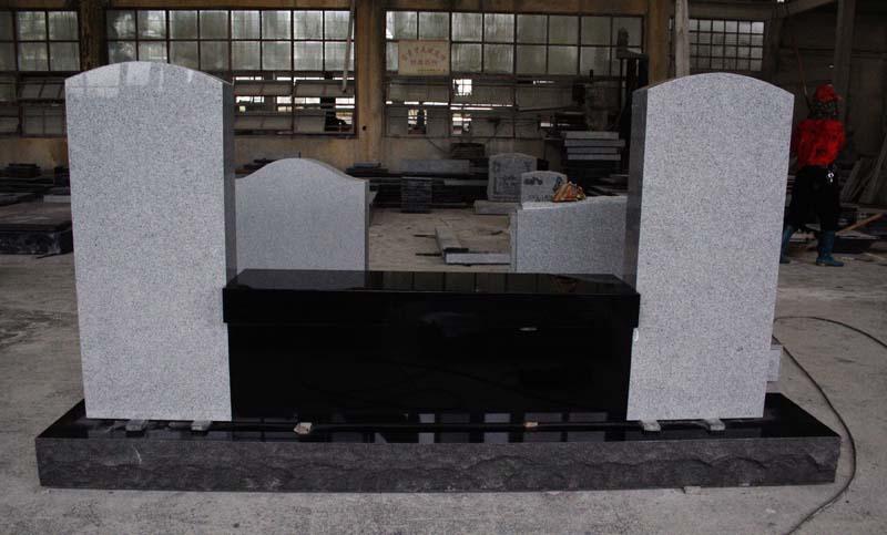 Indian Black Light Gray G633 Granite Cemetery