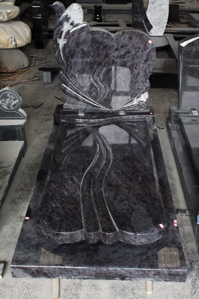 Bahama Blue Polished European Style Tombstone and Monument