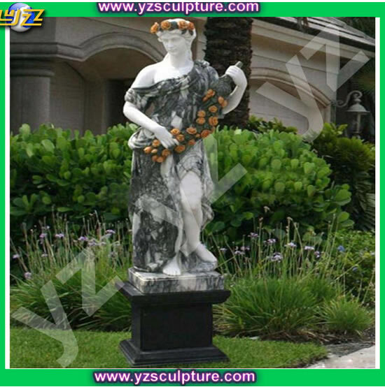Life size marble lady statue for garden decoration