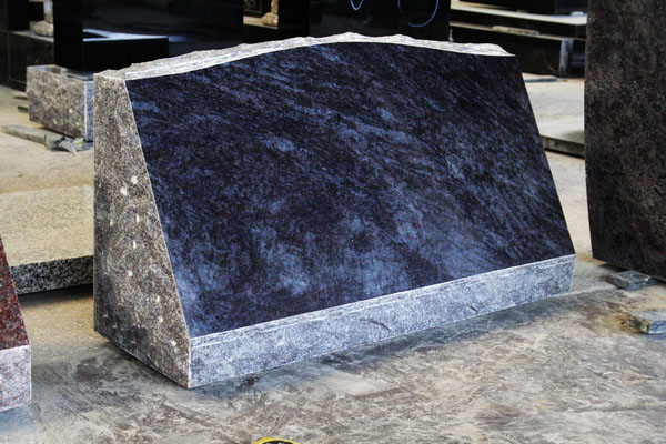 Bahama Blue Granite Polished Slant Marker Tombston