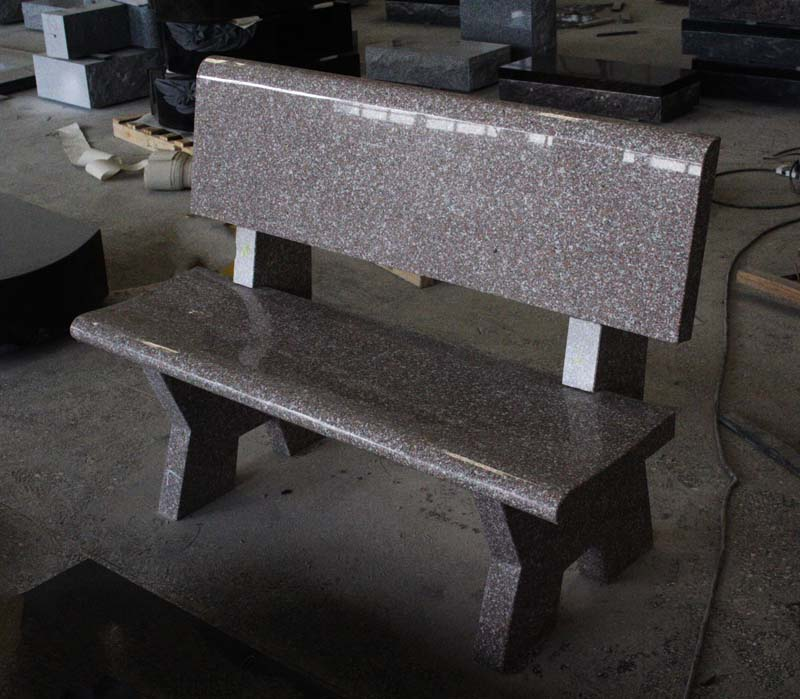 G663 Chandler Pink Granite Monumental Bench