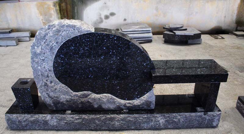 Blue Pearl Granite Memorial Bench American Monumen