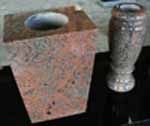 Multicolor Red Polished Square Vases