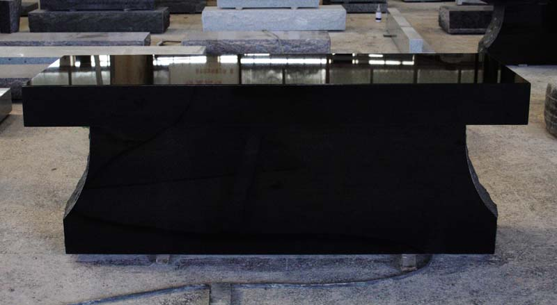 Indian Black Granite Monument Tombstone American