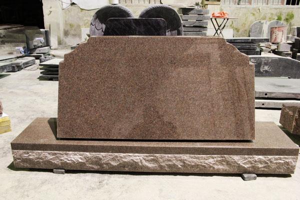 Imperial Rose Granite Polished Cemetery Slant Mark