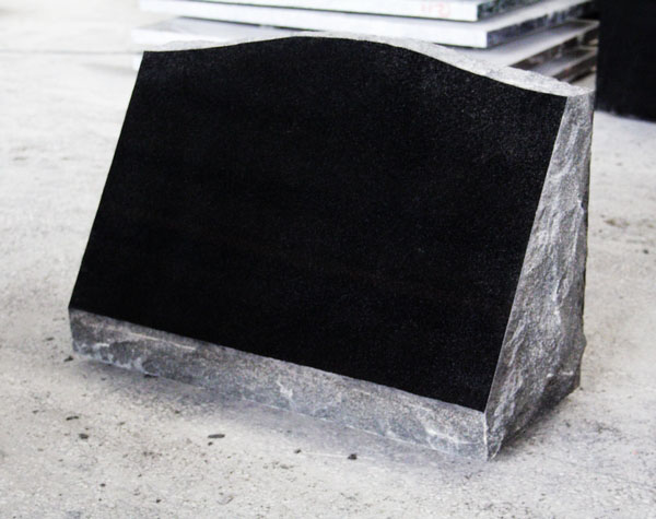 Absolute Black Polished Cemetery Slant Marker Tomb