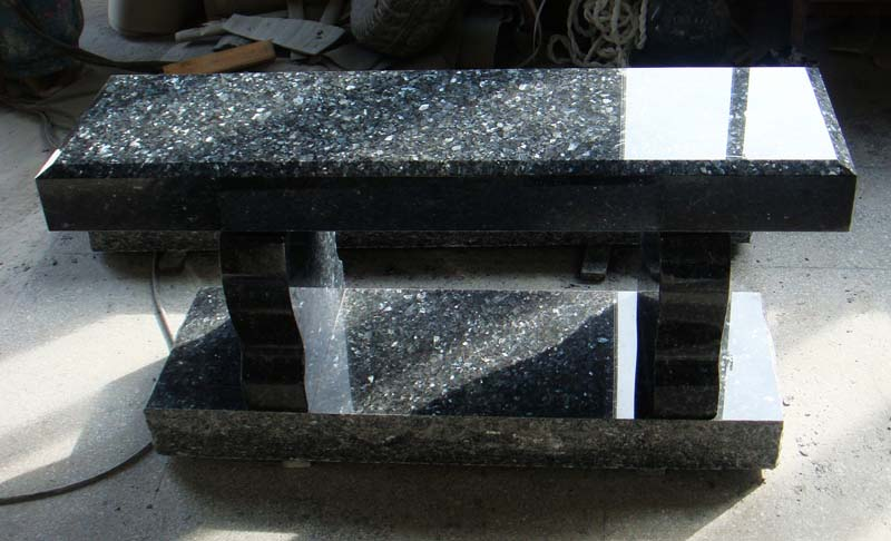 Blue Pearl Granite Bench American Monument