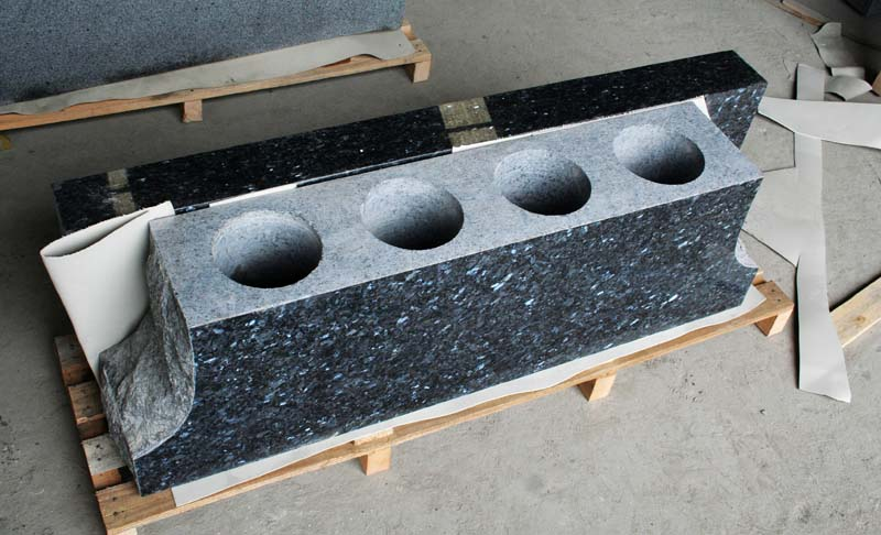 Blue Pearl Granite Memorial Bench Tombstone