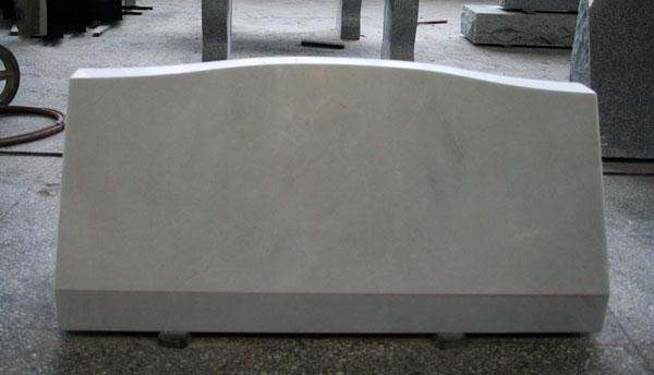 Hunan White Marble Honed Cemetery Slant Marker