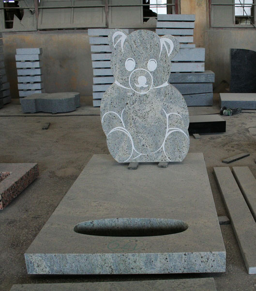 Granite Polished Panda Shape Tombstone and Monument
