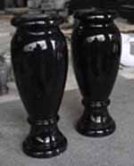 Shanxi Black Granite Polished Monumental Vases