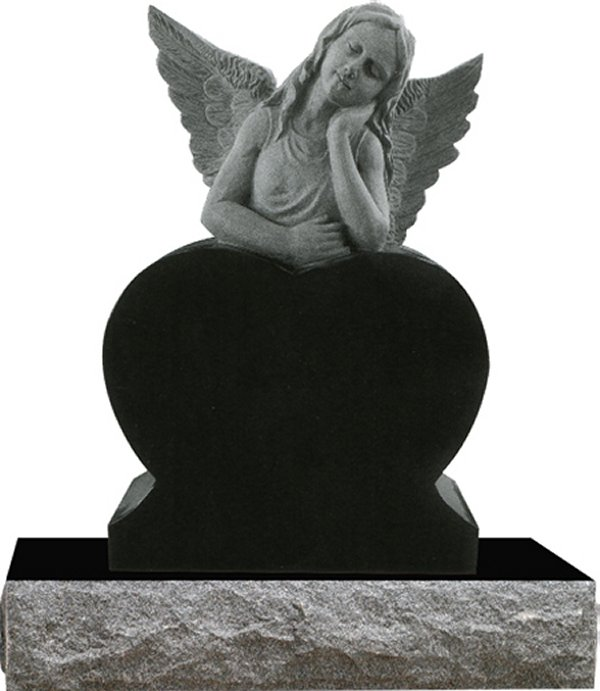 angel gravestone with wings