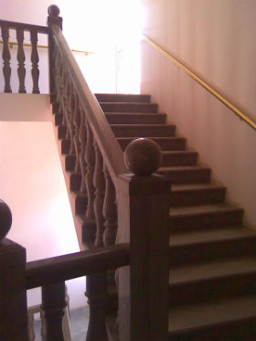 polished felzite stairs