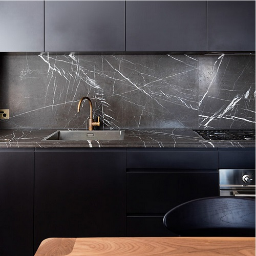 Decoration Material Nero Marquina Black Marquina Marble