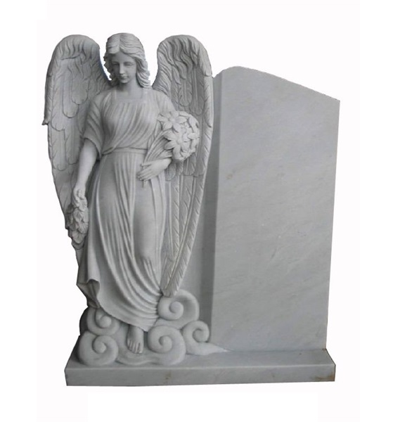 stone marble angel headstone