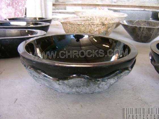 Absolute Black Granite Stone Sink