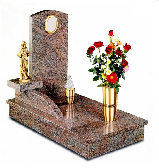 Headstone with vase granite tombstone