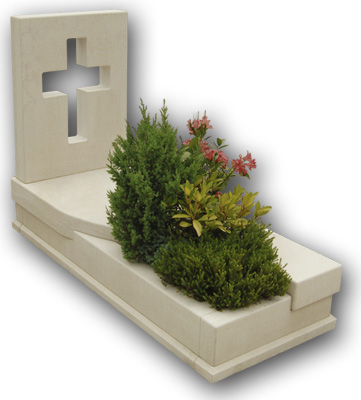 New style headstone with cover slab