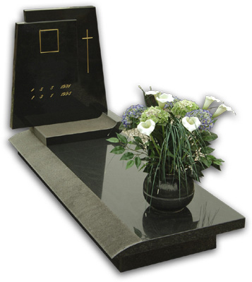 High polished new granite headstone