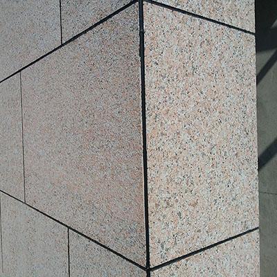 granite maple red g562 bushhammer Wall hanging stone slabs tiles
