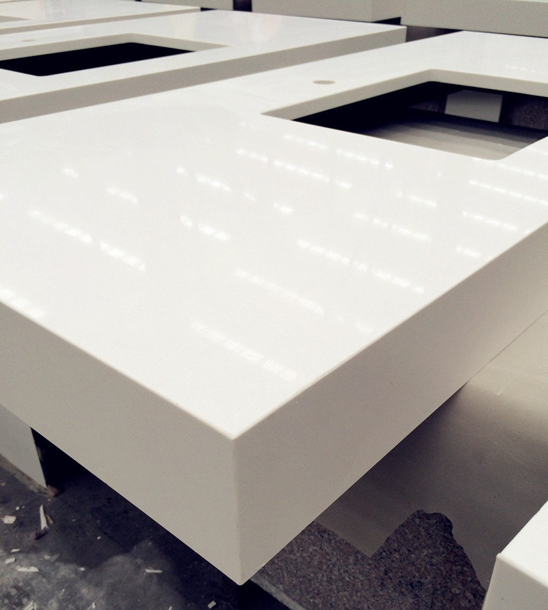 Pure White Quartz Vanity Tops China