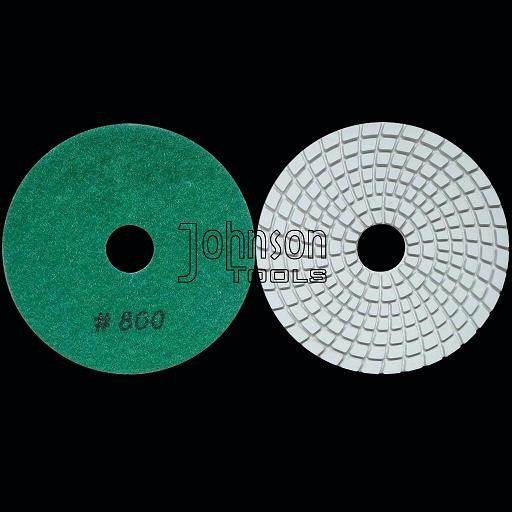100mm diamond wet white polishing pad