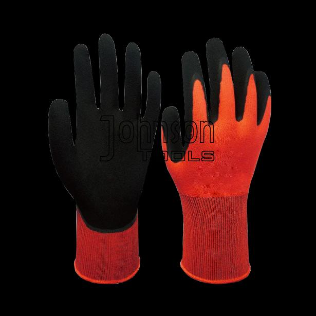 13G polyester latex coated gloves