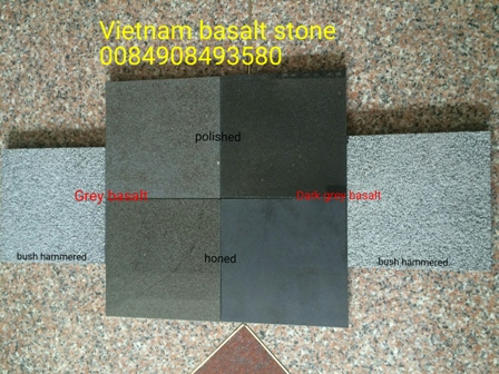 Vietnam basalt Grey and black basalt