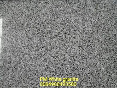 PM white granite
