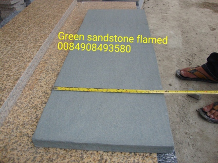 Green sandstone flaming