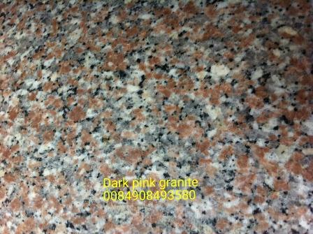 Dark pink granite