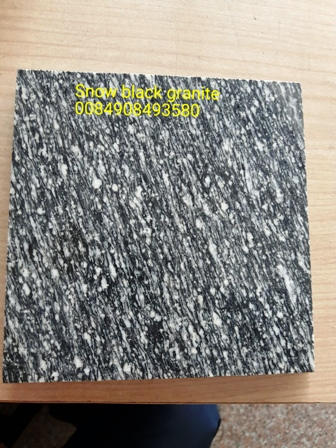 Snow black granite