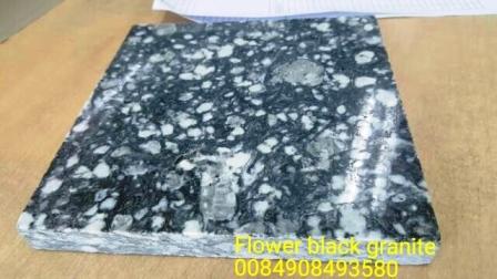 Flower black granite