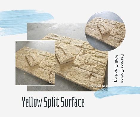 Yellow Split Mushroom Tile