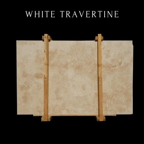 White Travertine-Light Beige Travertine