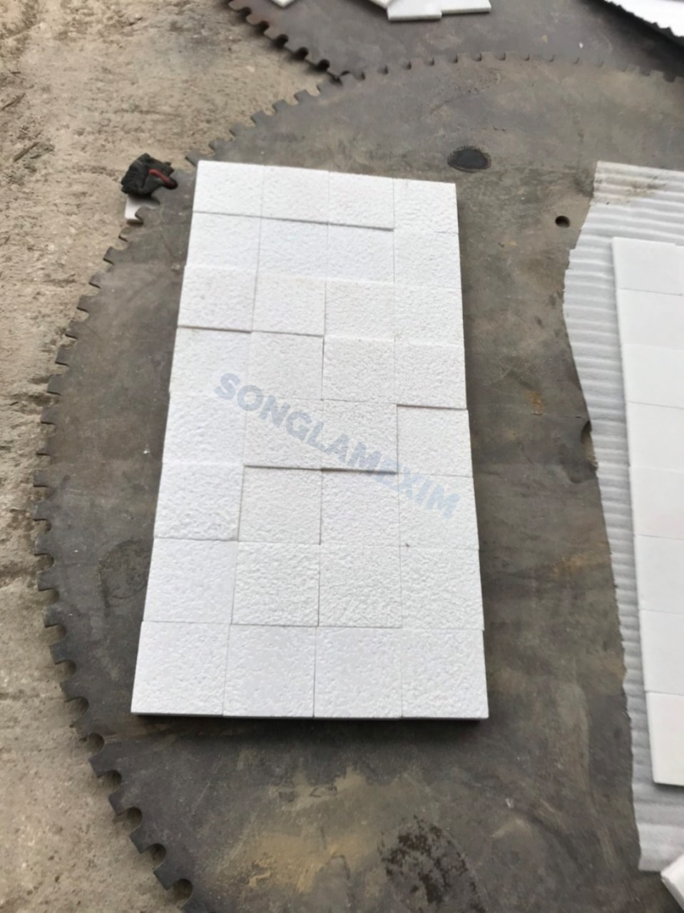 Chopping White Marble