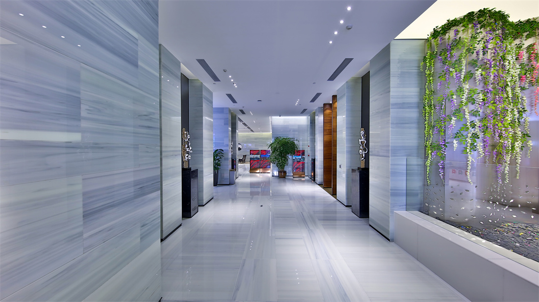 Gray Timber Nano Crystallized Glass Stone marble For Floor or hotel wall panel