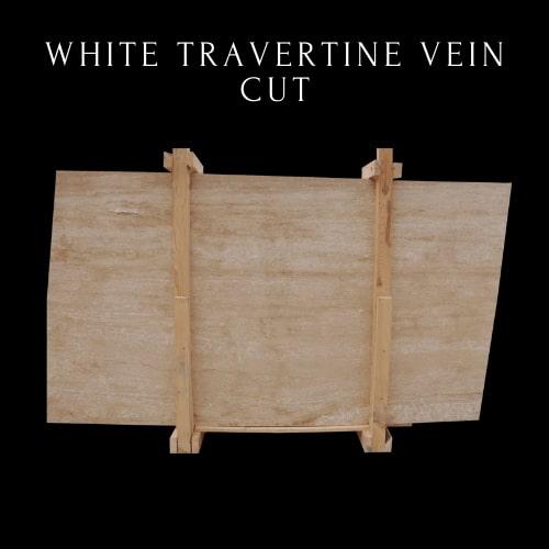 White Classic Vein Cut Travertine - White Beige Travertine