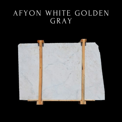 White Pure Marble- Golden Grey White Marble