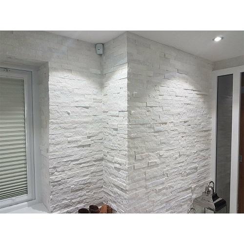 White marble split up face application