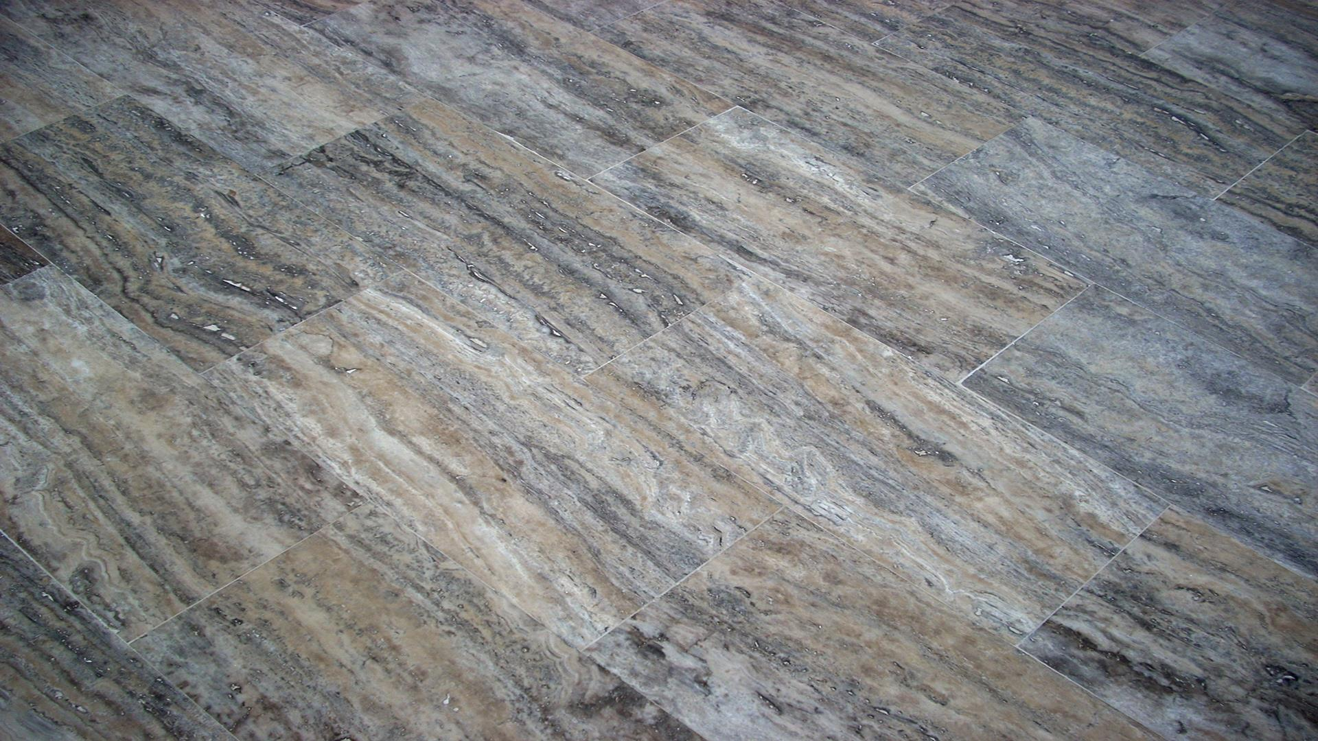 Silver Travertine Vein Cut Tiles
