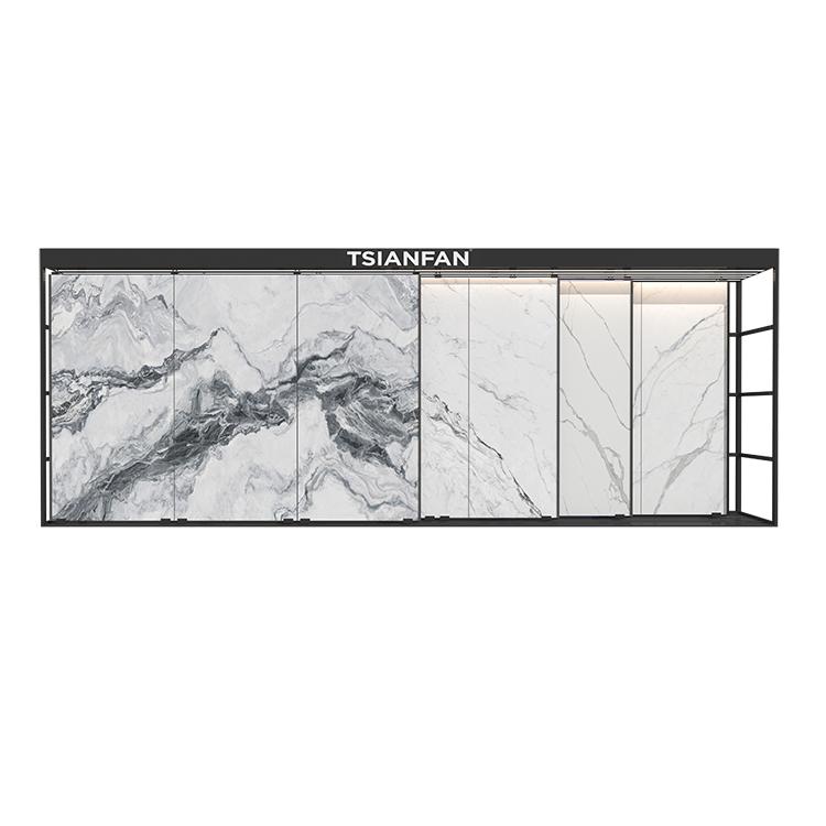 Granite Marble Tile Sliding Display Rack